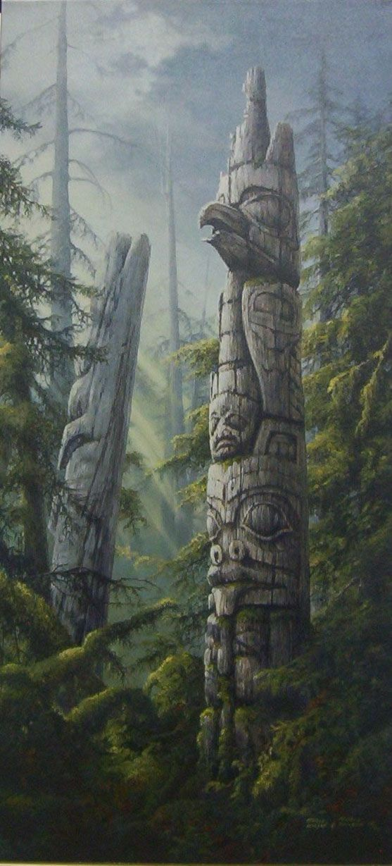 ♥ Its usually misty in BC's temperate rain forest