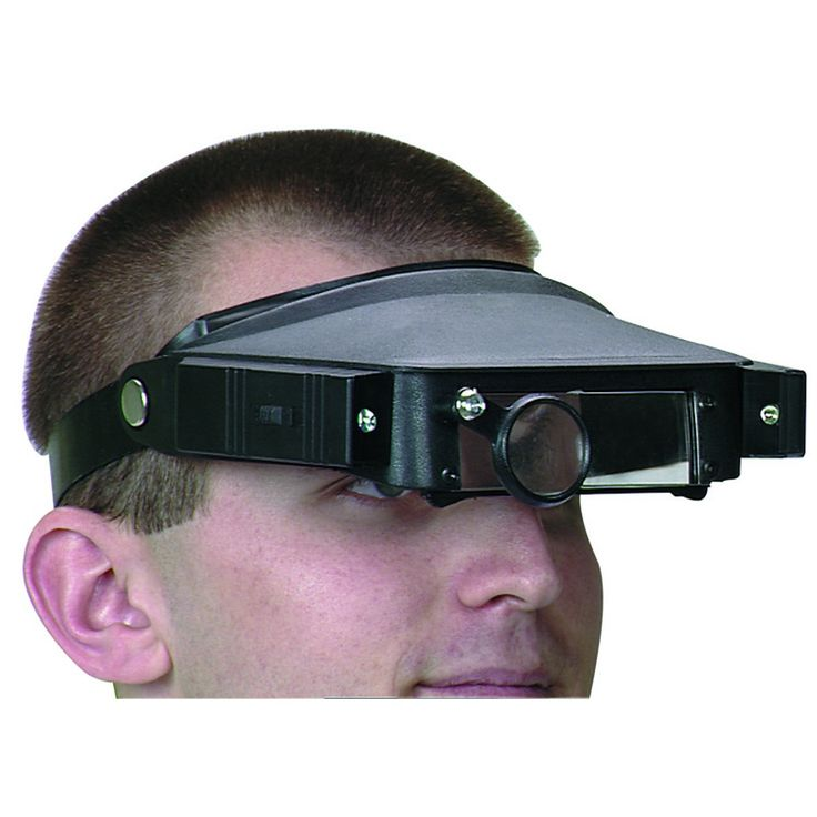 Attention Hobbyists Check Out The Magnifier Head Strap With Lights From Harbor Freight Tools