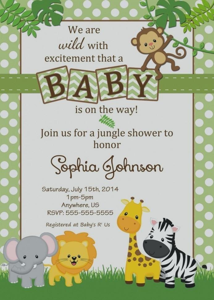 Jungle Theme Birthday Invitations Free Printable Amazing Of