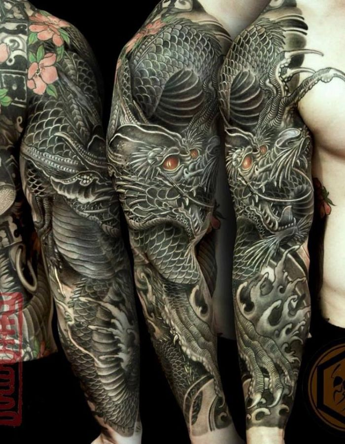 17 best images about tattoo voorbeelden on pinterest chinese dragon sleeve and japanese. Black Bedroom Furniture Sets. Home Design Ideas