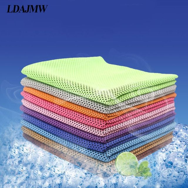 Ldajmw Sports Cooling Towel Cozy Ice Cold Enduring Running Jogging Swimming Gym Travel Portable Quick Drying Towel