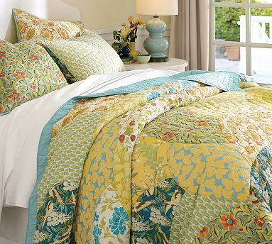 Scalloped Organic Patchwork Quilt & Sham #potterybarn