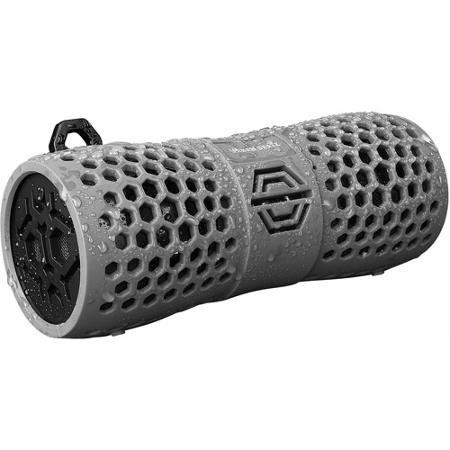 Urban Beats Rock-On Hex Rugged Bluetooth Speaker - Gray. iPX4 tested and certified; 6W power and passive subwoofer;7hrs battery life; includes hook to attach carabiner or wrist strap (not included).