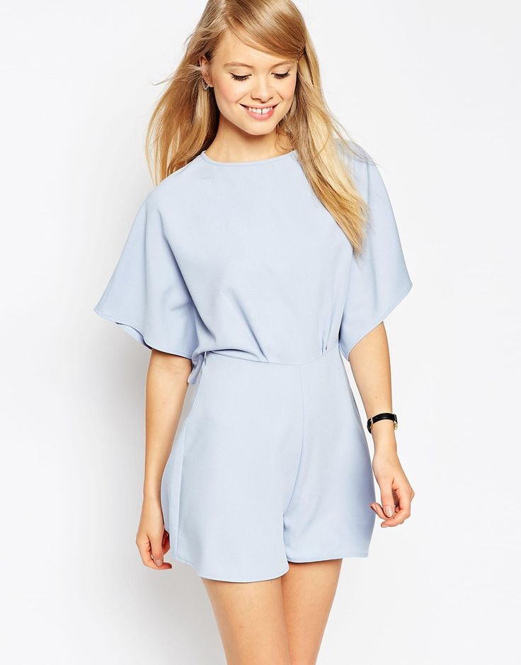 Image 1 of ASOS Playsuit with Kimono Sleeve