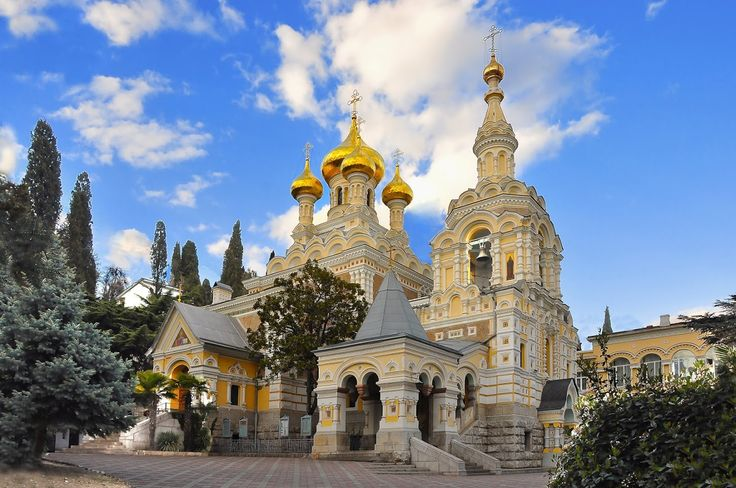Crimea. Yalta. The Church Of Alexander Nevsky.