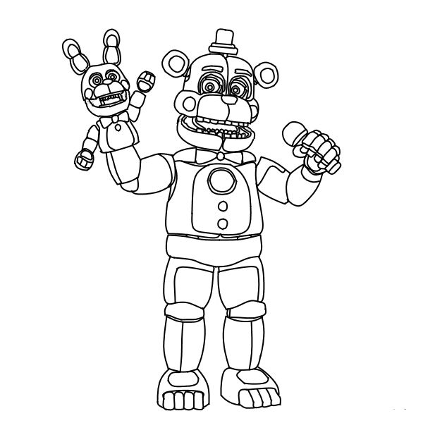 funtime freddy coloring pages Funtime Freddy FNAF Coloring Pages | sienna board | Fnaf coloring  funtime freddy coloring pages