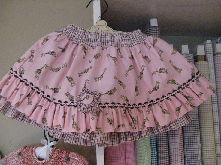 Very sweet little bloomer skirt by Sew Sensible.  It's their Twirl Skort pattern!