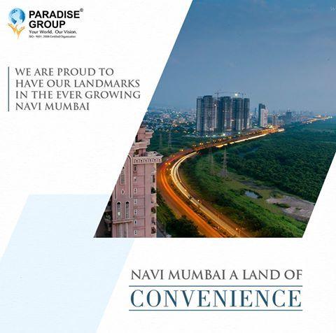 #NaviMumbaiTrivia Navi Mumbai - A land of Convenience www.paradisegroup.co.in Contact: 022 2783 1000 #paradise #paradisebuilders #realestate #luxury #luxurioushouse #realtor #propertymanagement #bestpropertyrates #homesellers #bestexperience #homebuyers #dreamhome #mumbai