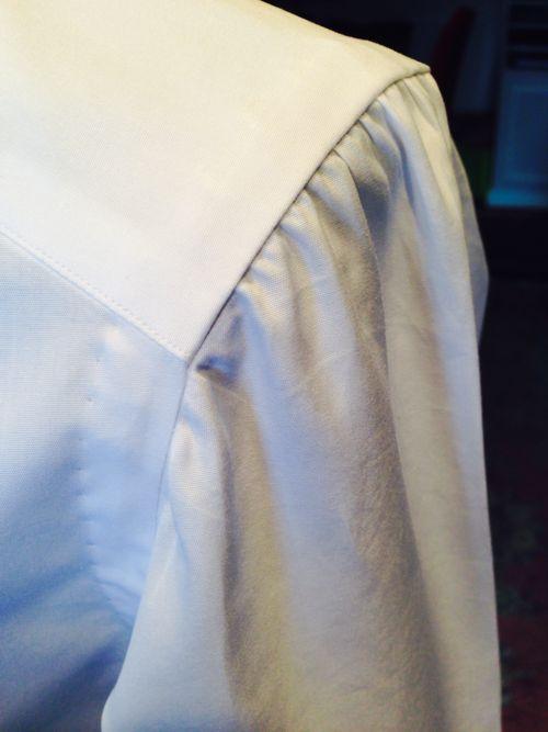 Shirt detail: shoulder