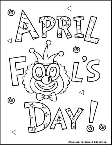 april fools coloring page and april fools song for preschool kindergarten esl and children