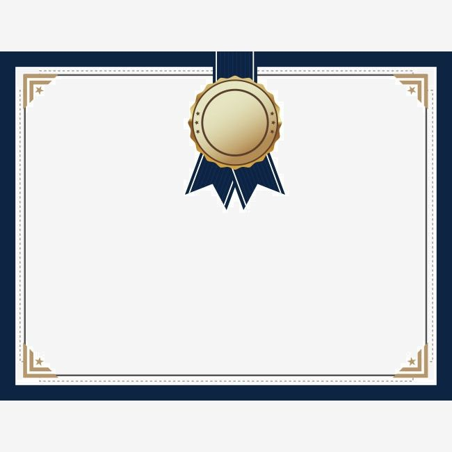 Blue Medal Certificate Background Material Certificate Background Certificate Design Certificate Design Template