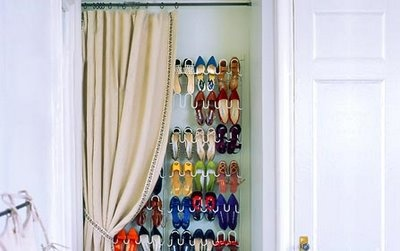 shoes + curtain