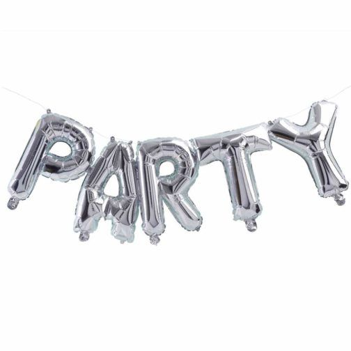 Globo party Plata