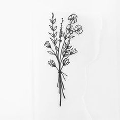 Fast afternoon doodle #wildflowers # afternoon doodle #fast # wild … #tattoos