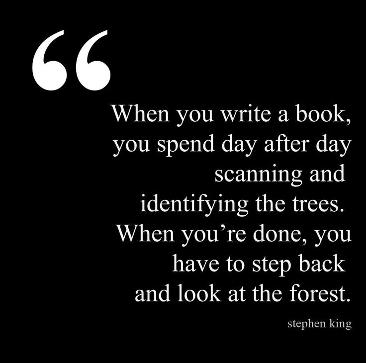 When you write a book, you spend day after day scanning and identifying the trees... #quote #author #writer