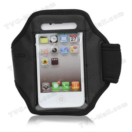 Adjustable Sports Armband Case for iPhone 4 4S - Black  — 1.12 руб. —  iPhone 4S armband case, adjustable, black colour, flexible and lightweight, transparent plastic material on the surface, best accessory for sport fanatics, perfect fit to iPhone 4 4S.