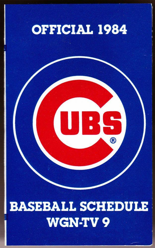 1984 CHICAGO CUBS WGN TV SPORTMART BASEBALL POCKET SCHEDULE FREE SHIPPING