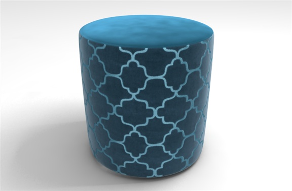 Bella stool in Plain Heaven and Silhouette Petrol Blue