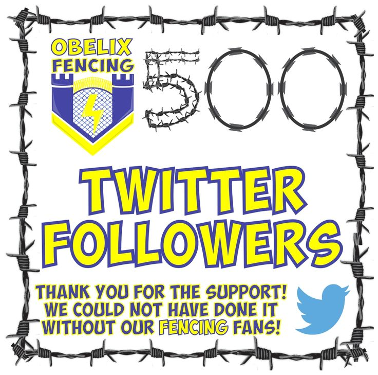 We must admit we really are feeling the love on Twitter! A big shout out and thank you to every single one of our 500 Fencing Followers who have followed, hearted, retweeted and passed on all those Fantastic Fencing leads! So if you are a tweeter then pop past to see all the excitement! @ObelixF