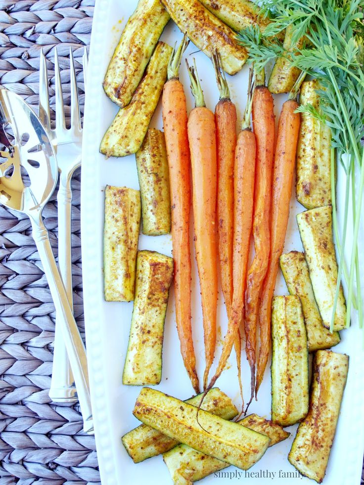 Sumac Roasted Carrots and Zucchini  from Simply Healthy Family #RecipeRedux