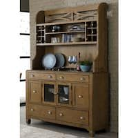 Town and Country Transitional Buffet and Hutch