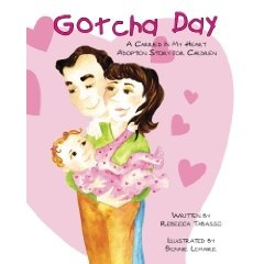 Gotcha Day is an engaging children's book celebrating the day adoptive families came to be and giving families an avenue to share their own adoption story, traditions, and joy their child brings to the family. Families can personalize their child's name and date they became a family on the removable Gotcha Day certificate.