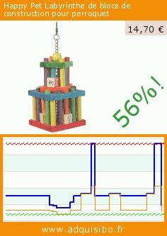 Happy Pet Labyrinthe de blocs de construction pour perroquet (Divers). Réduction de 56%! Prix actuel 14,70 €, l'ancien prix était de 33,59 €. https://www.adquisitio.fr/happy-pet/labyrinthe-blocs