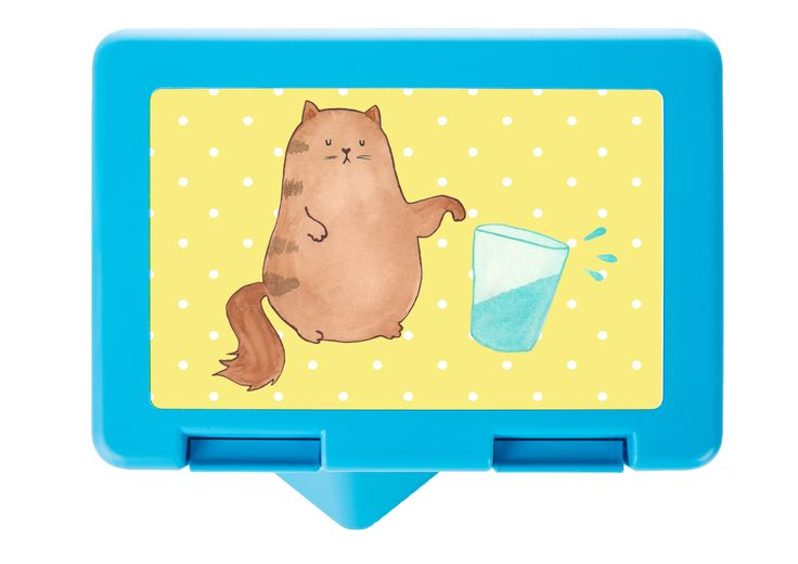 Brotdose Katze Wasserglas aus Premium Kunststoff  schwarz - Das Original von Mr. & Mrs. Panda.  Diese wunderschöne Brotdose von Mr. & Mrs. Panda ist wirklich etwas ganz Besonderes - sie ist stabil, sehr hochwertig und mit einer exklusiven und schimmernden bedruckten Aluminiumplatte  ausgestattet.    Über unser Motiv Katze Wasserglas  Unsere langersehnte Katzenkollektion ist da! Unsere Katzen sind wie echte Katzen - arrogant, versnobt, immer hungrig, und unglaublich liebeswert…