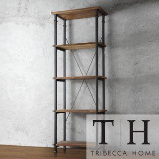 TRIBECCA HOME Myra Vintage Industrial Modern Rustic Bookcase | Overstock.com Shopping - The Best Deals on Media/Bookshelves