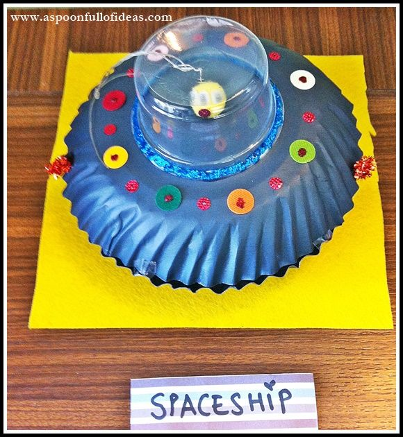 how to make a alien spaceship out of paper