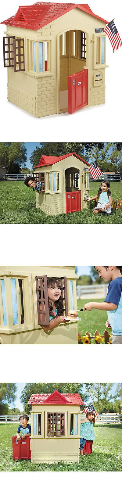 Permanent Playhouses 145995: Little Tikes Cape Cottage Playhouse, Tan -> BUY IT NOW ONLY: $129.99 on eBay!