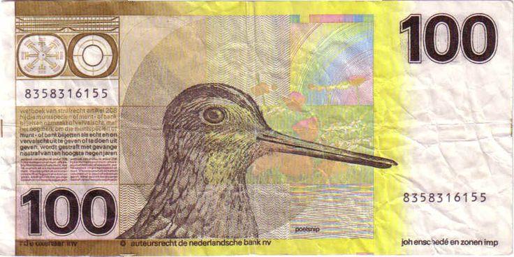 De Snip ofwel 100 gulden, uit de tijd dat dat NL bankbiljetten nog mooi waren