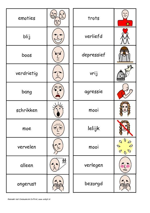 emoties tekenen voor kinderen | Emoties voor In Print