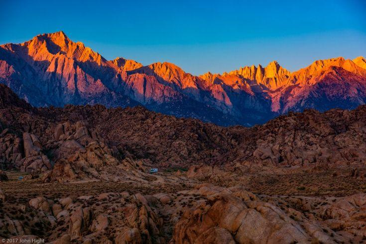 Sunrise Illuminating the Sierra by John Hight
