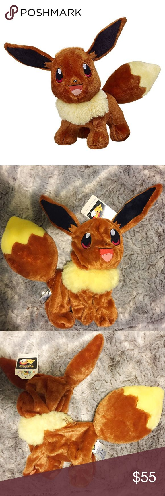 Build A Bear Pokemon Eevee Unstuffed Plush Brand new with tags! This Build A Bear Pokemon Eevee Unstuffed Plush is a must have for any Pokemon fan! Eevee will come unstuffed so you can bring your little one to your local Build A Bear to have it stuffed! I also have the Pokeball Pajama Hoodie outfit available in my closet! Build A Bear Other