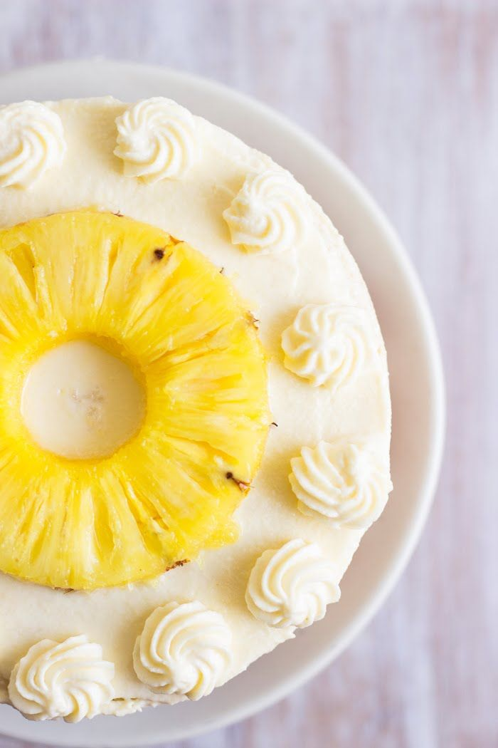 Pineapple Cake With Whipped Cream Frosting Eggless Recipe Pineapple Cake Eggless Cake Recipe Pineapple Cake Recipe