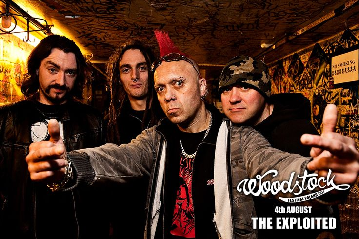 "THE EXPLOITED to esencja punk rocka! #woodstock2017 // They coined the phrase: ""punk's not dead"". The legendary the Exploited will present a masterclass in punk at #woodstock2017"