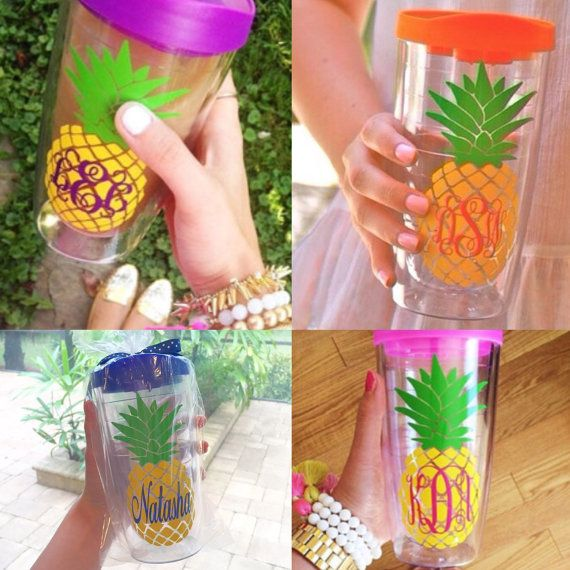 Pineapple Monogrammed Tumbler Cup Preppy Personalized Southern https://www.etsy.com/listing/197777414/monogrammed-pineapple-tumbler-new-color?ref=shop_home_feat_1