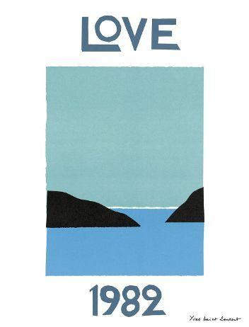 CARTE DE VOEUX - LOVE YVES SAINT LAURENT - MER MAROC - 1982