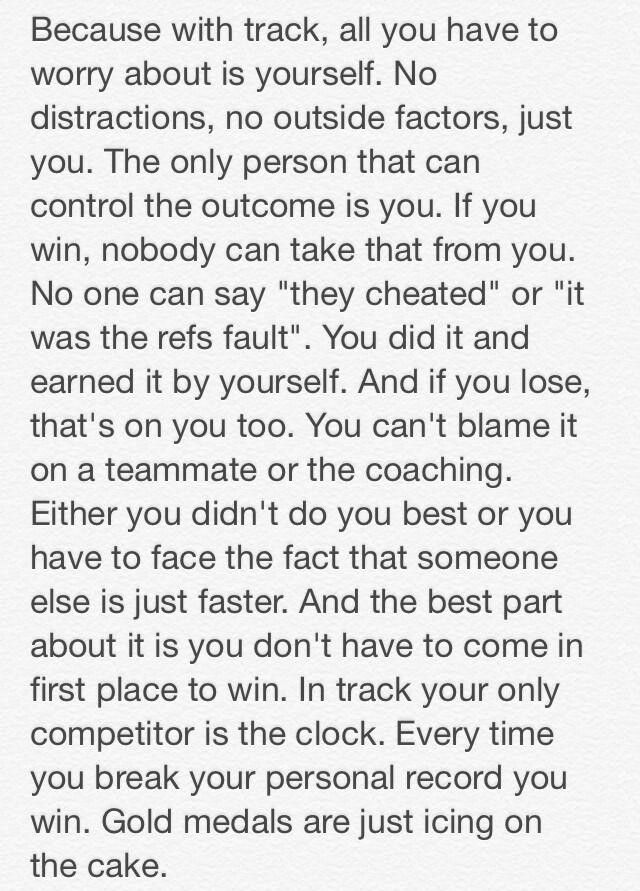 My former track coach used to give us pep talks very similar to this.