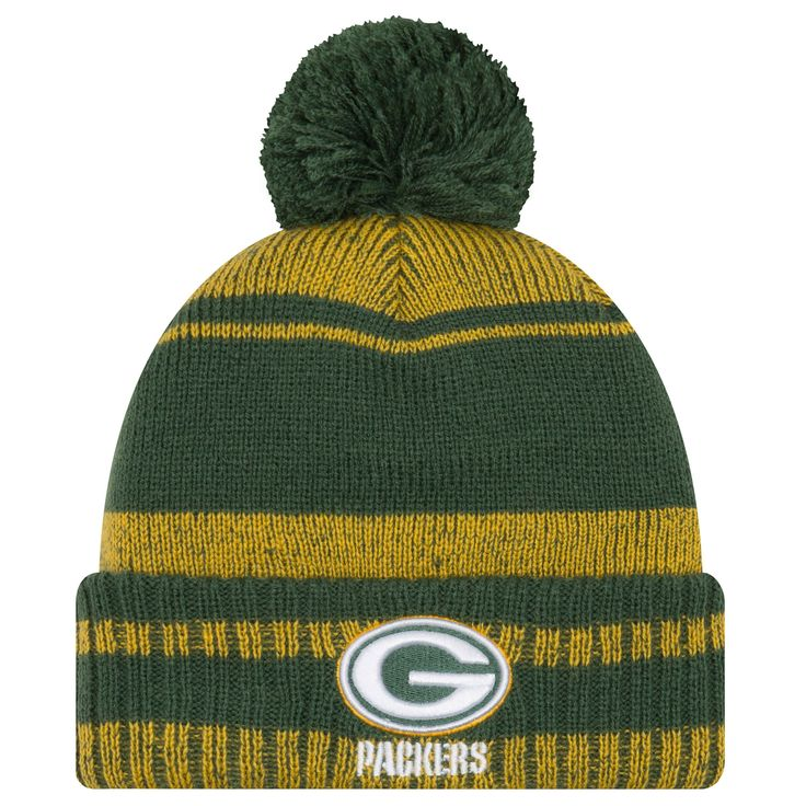 Green Bay Packers Glacial Pom Knit Hat