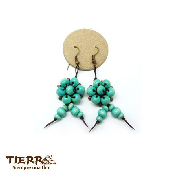 Pendientes de madera en TIERRA, preciosa colección veraniega. Wooden TIERRA earrings, beautiful summer collection