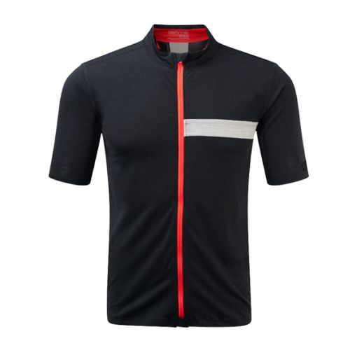 ashmei cycle jersey black