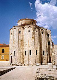 Pre-Romanesque art and architecture - Pre-Romanesque Church of St Donatus in Zadar, from the 9th century.