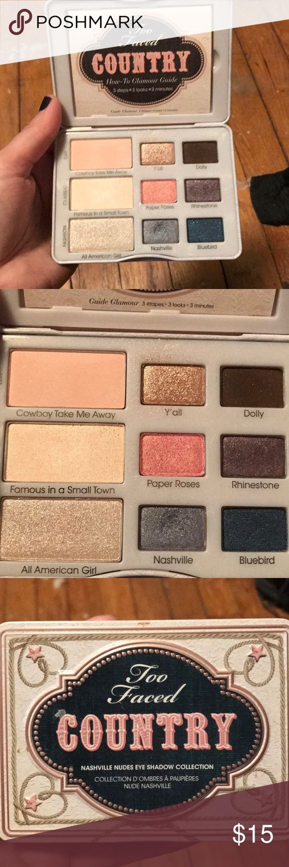 too faced country eye palette too faced country eye palette, tried once like brand new Too Faced Makeup Eyeshadow