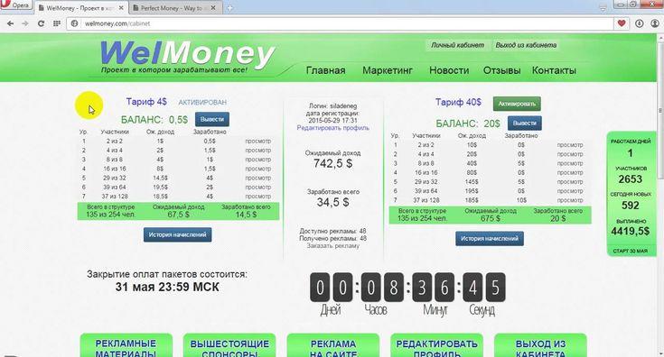Welmoney Полный автомат прибыли,регистрация,перспективы!