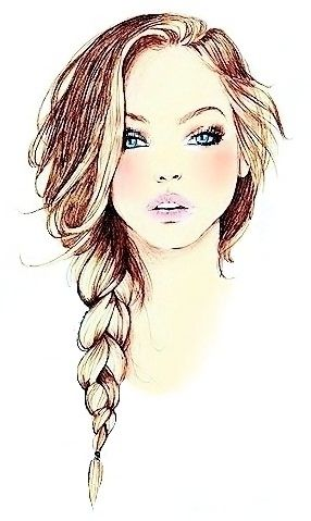 The most important thing a girl wears is her confidence.  Fashion Illustration