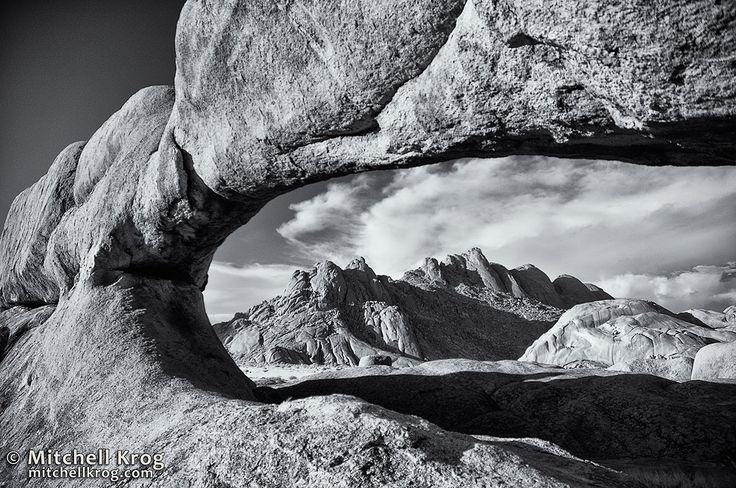 Spitzkoppe Rock Arch Namibia (Infrared) by Mitchell Krog on 500px