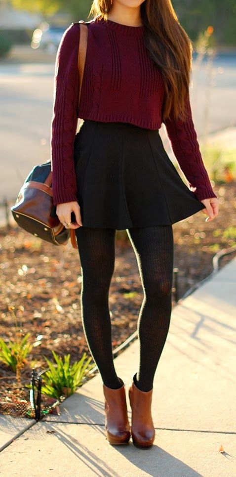 I absolutely love this outfit. It is great to wear in the fall or even winter with a jacket over top to match. There are so many variations you can make and I can't wait to try it out!