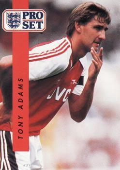 1990-91 Pro Set English League #2 Tony Adams Front